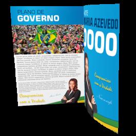 Jornal Informativo Eleições Sulfite 75g 297x420mm 4x4 Sem Cobertura Dobra Central
