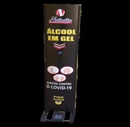 Totem Álcool em Gel - Personalizado Estrutura em Ferro e Ps 1mm 30x150 cm 4x4 Ps 1mm